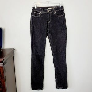 DKNY JEANS Black Skinny with Tan Stitching, 6R